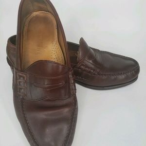 Ralph Lauren Made in USA brown Calf Leather Penny